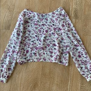 Tops - Cynthia rowley Flowy sheer floral shirt